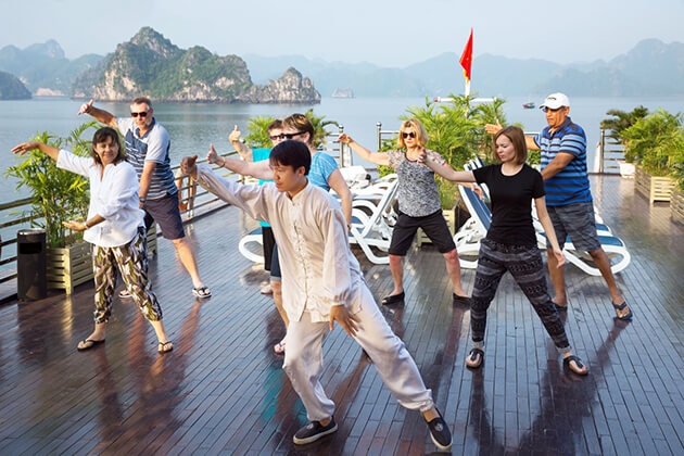 Tai Chi on Halong Bay from Vietnam - Thailand tour