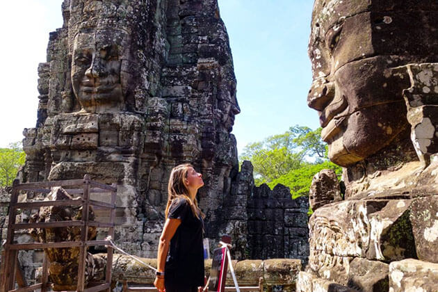 Discover Angkor Wat Temple complex in Indochina tour