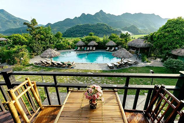 Morning at Mai Chau Ecolodge