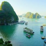 Stunning view of Halong Bay