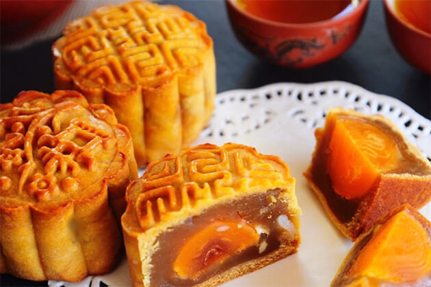 mooncakes - a must-have in Mid-Autumn festival